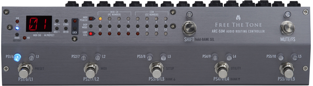 Free The Tone ARC-53M Audio Routing Controller 新品 プログラムスイッチャー[フリーザトーン][Silver,シルバー,銀][ラインセレクター][Effector,エフェクター][ARC53M]