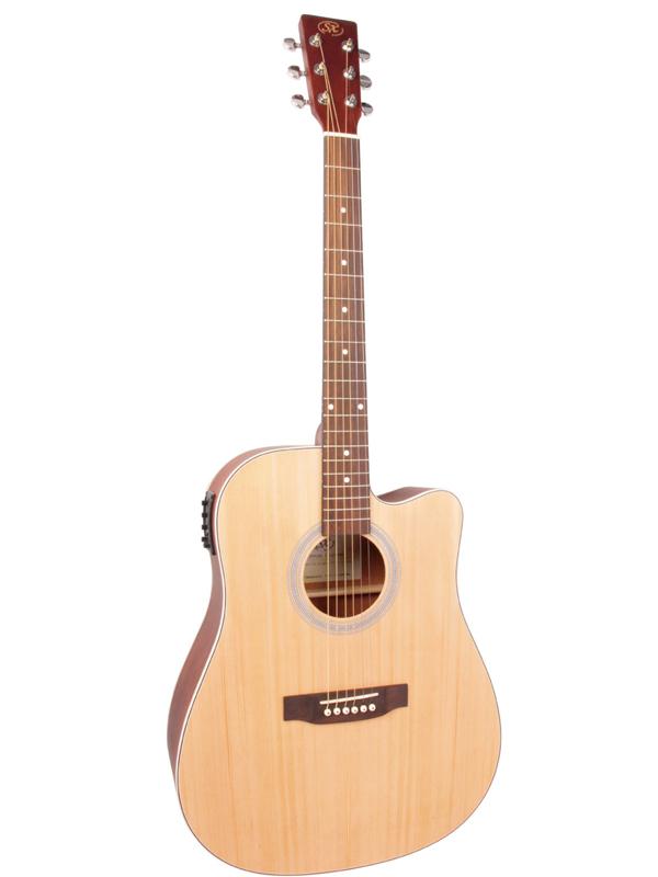 正規品販売! SX Acoustic Guitars SD204CE 新品 NAT[SXギターズ][Natural,ナチュラル][Dreadnought,ドレッドノートタイプ][Electric 新品 Acoustic Guitars Guitar,アコースティックギター,エレアコ], インポートブランド SUPREMO:90d1b325 --- uptic.ps