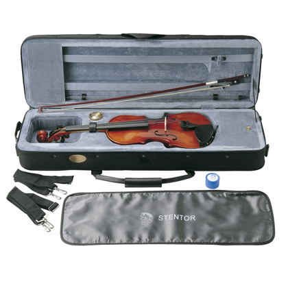 【弓/松脂/ケース付】STENTOR SV-320 新品 バイオリンセット[ステンター][Violin,ヴァイオリン][分数]