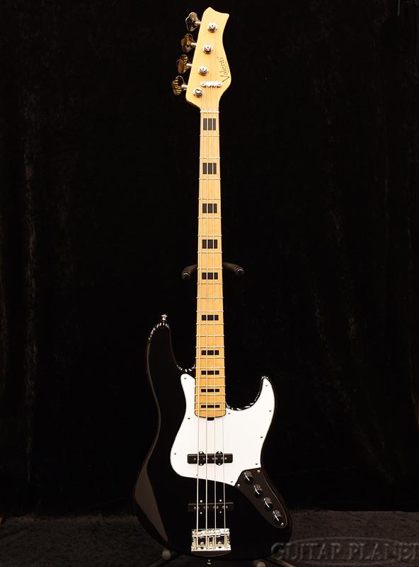 Valenti V21-J4 -Black w/Black Binding&Position Mark- 新品[ヴァレンティ][Active,アクティブ][ブラック,黒][Jazz Bass,JB,ジャズベースタイプ][Electric Bass,エレキベース]