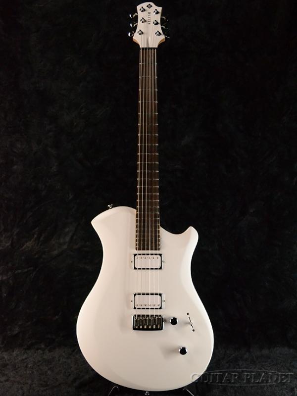Relish Guitars Snow W MARY -Wood Flame- 新品[レリッシュ][White,ホワイト,白][Electric Guitar,エレキギター]