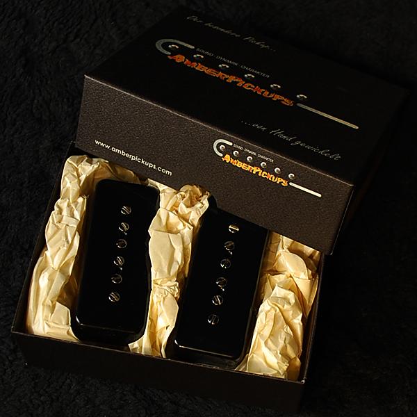 Amber Pickups 90 Classic Black エレキギター用ピックアップ[アンバーピックアップ][P-90タイプ,P90][Single Coil Pickup,シングルコイル][ブラック,黒]