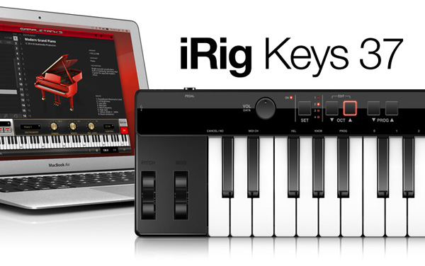 iRig Keys 37 IK Multimedia brand new 37-key MIDI keyboard