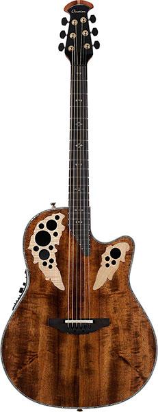Ovation Elite Plus - C2078AXP Natural Transparent(KOA) 新品[オベーション][エリートプラス][コア][ナチュラル,茶色][エレアコ][Acoustic Guitar,アコギ,アコースティックギター,Folk Guitar,フォークギター]