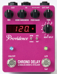 【純正アダプター付】Providence CHRONO DELAY DLY-4 新品 デジタルディレイ[プロビデンス][クロノディレイ][Digital Delay][松原正樹][Effector,エフェクター]