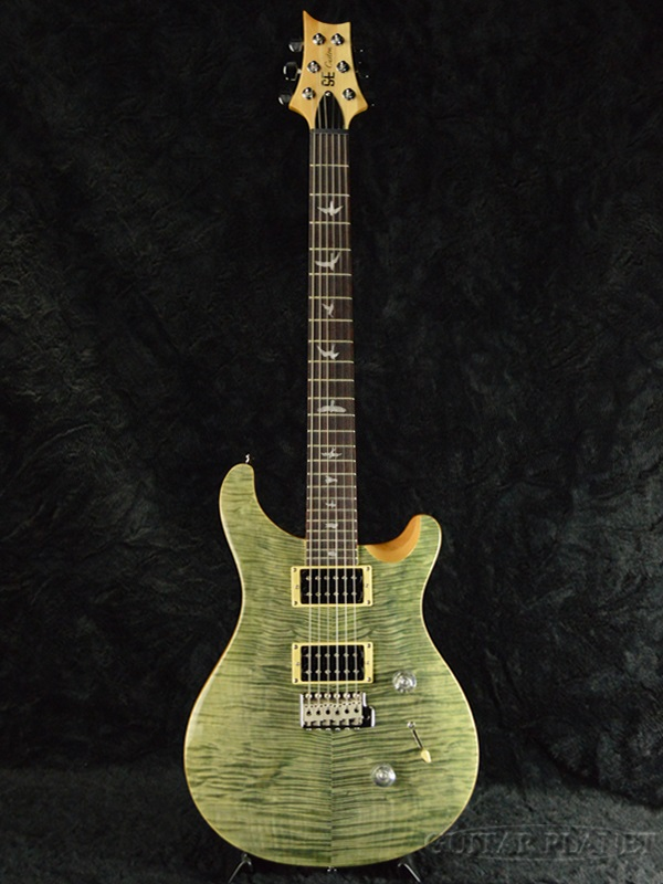 保罗 · 里德史密斯 SE 自定义 24 斜面枫顶部 / 有限 Trampas 绿色品牌新的 [PRS,PRS] [自定义 24] [trammps,绿色] [电吉他、 电吉他]