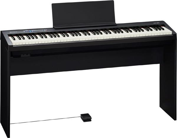 【純正スタンド付】Roland FP-30 Digital Piano 新品 ブラック[ローランド][スピーカー内蔵][Black,黒][デジタルピアノ,電子ピアノ][Keyboard,キーボード][FP30][KSC-70]