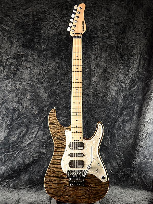 Schecter EX-V-24 CTM FRT 4A Grade -BKNTL- 新品 [シェクター][Custom,カスタム][Quilted Maple,4Aキルトメイプル][フロイドローズ,Floydrose][Stratocaster,ストラトキャスタータイプ][エレキギター,Electric Guitar][exv24]