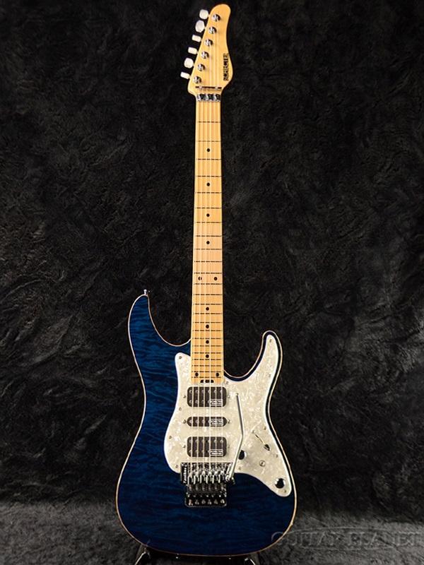 Schecter EX-V-24 CTM FRT 4A Grade -BKAQ- 新品 ブルー[シェクター][Stratocaster,ストラトキャスタータイプ][Blue,青][Electric Guitar,エレキギター]