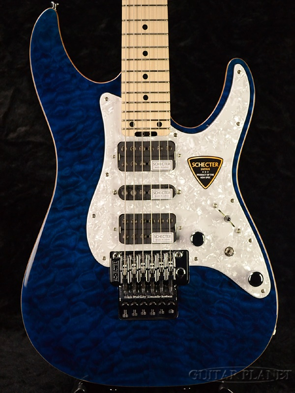 guitar planet schecter sd ii 24 al see thru blue brand new made in japan electric guitar. Black Bedroom Furniture Sets. Home Design Ideas