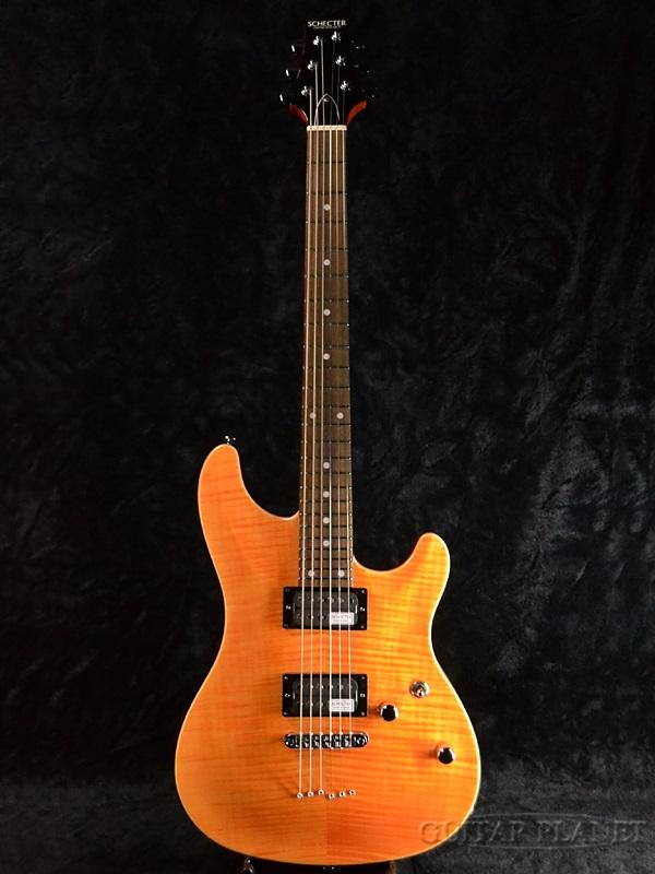 guitar planet schecter rj 1 24 tom amb brand new made in japan electric guitar amber. Black Bedroom Furniture Sets. Home Design Ideas
