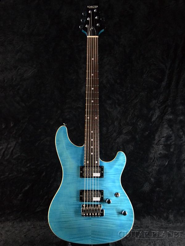 Schecter RJ-1-24-VTR -AQB- 新品[シェクター][国産][Aqua Blue,アクアブルー,青][Stratocaster,ストラトキャスタータイプ][Electric Guitar,エレキギター]
