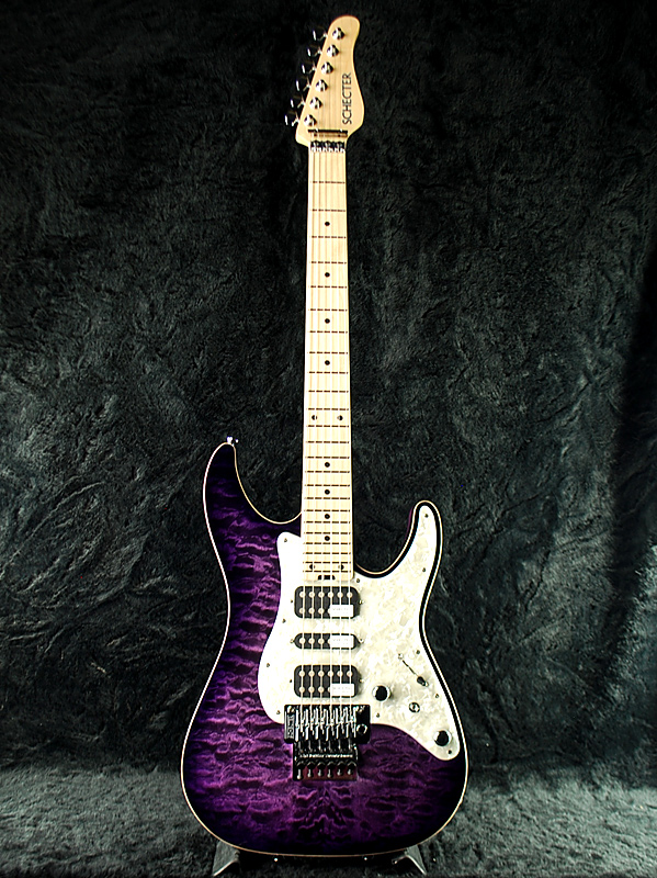 Schecter SD-DX-24 AS PRSB/M アッシュボディ 新品 パープル [シェクター][Purple,紫色][Quilted Maple,キルトメイプル][Stratocaster,ストラトキャスタータイプ][エレキギター,Electric Guitar]