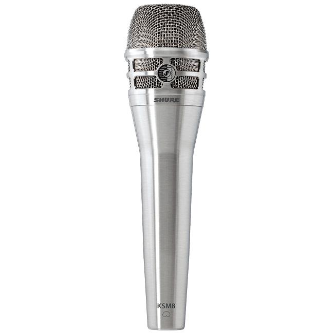 【正規品】SHURE KSM8 Dualdyne ニッケル 新品 ボーカル用ダイナミックマイク[シュアー][Nickel,Silver,シルバー,銀][Wired Dynamic Microphone][KSM8/N]