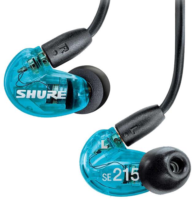 【正規品】SHURE SE215 Special Edition トランスルーセントブルー 新品 高遮音性イヤホン[シュアー][Earphone][SE215]