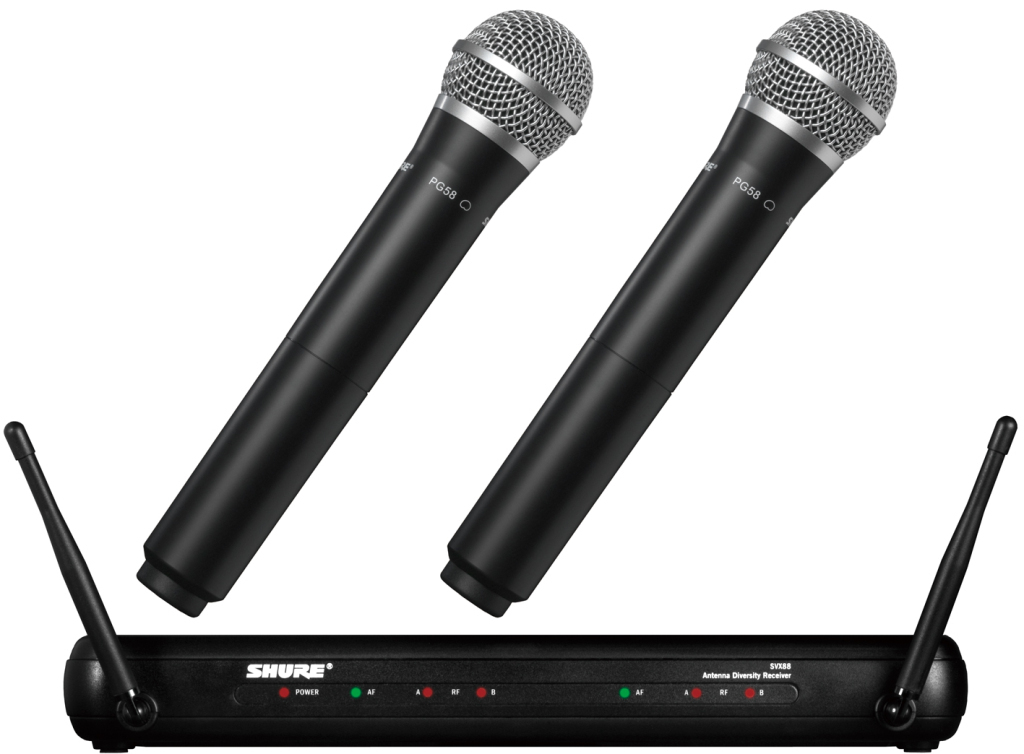 guitar planet shure shure svx288 pg58 brand new wireless microphone system wireless. Black Bedroom Furniture Sets. Home Design Ideas