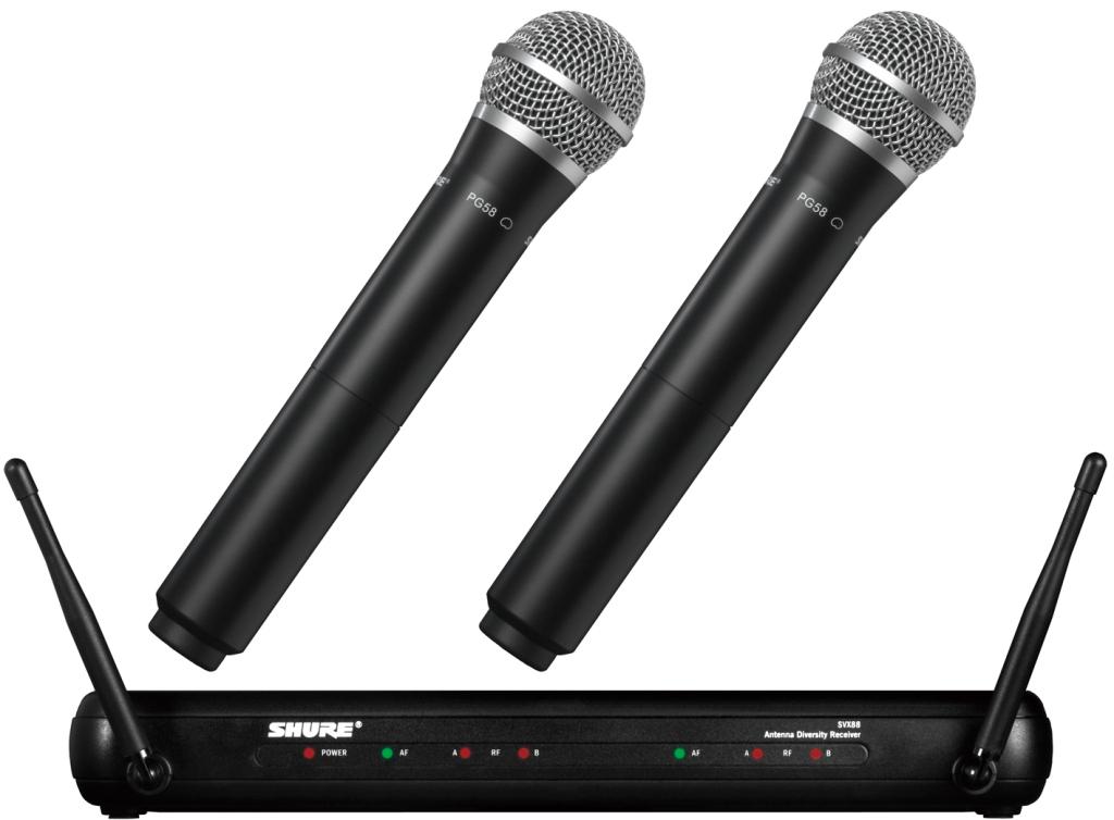 【正規品】SHURE SVX288/PG58 新品 ワイヤレスマイクシステム[シュアー][Wireless Microphone]