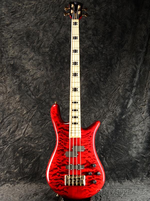Spector EURO4LX Premium Wood -Black Cherry Gloss / Maple- 新品[スペクター][ユーロ][Red,ブラックチェリーグロス,レッド,赤,木目][艶あり][Electric Bass,エレキベース]