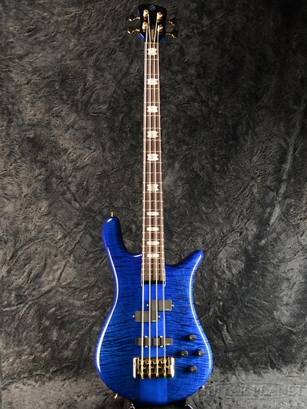 Spector EURO4LX Premium Wood -Blue Black Stain Gloss- 新品[スペクター][ユーロ][ブルーブラックステイングロス,青,木目][艶あり][Electric Bass,エレキベース]