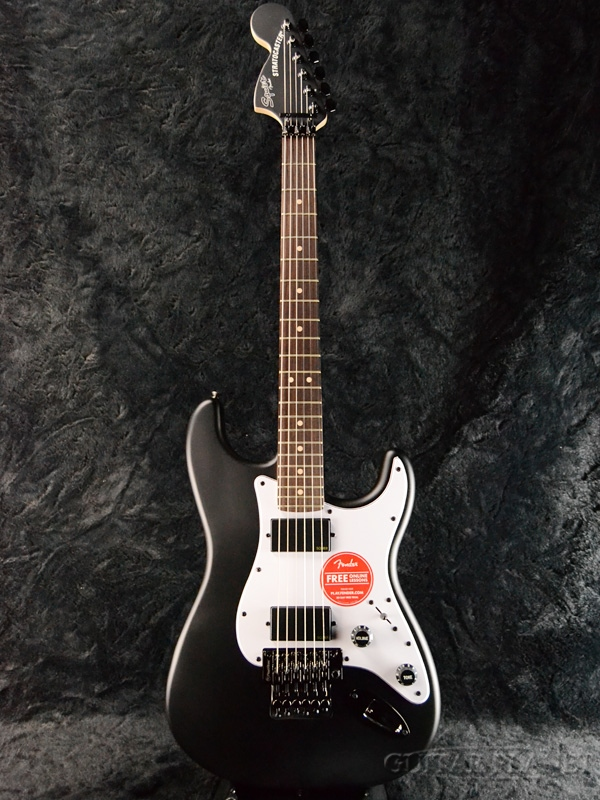 Squier Contemporary Active Stratocaster HH -Flat Black- 新品 フラットブラック[スクワイヤー][コンテンポラリー][黒][ストラトキャスター][エレキギター,Electric Guitar]