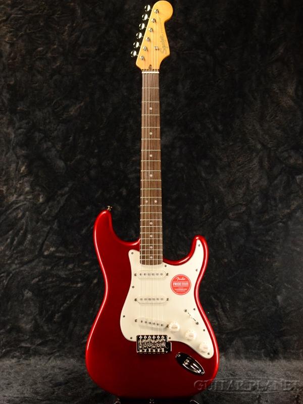 Squier Classic Vibe '60s Stratocaster -Candy Apple Red / Laurel- 新品 キャンディアップルレッド[Fender,スクワイヤー,フェンダー][ストラトキャスター][赤][Electric Guitar,エレキギター]