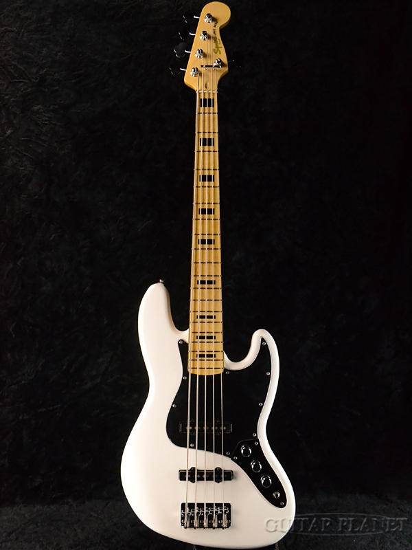 Squier Vintage Modified JAZZ BASS V 新品 OWT オリンピックホワイト 5弦ベース[スクワイヤー][Olympic White,白][5strings][ジャズベース,JB-V][Electric Bass,エレキベース]