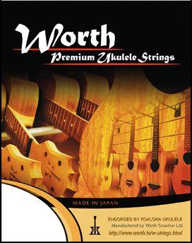 ギフ_包装 Worth BT-LG テナーウクレレ弦セット ワース カーボン弦 発売モデル Tenor Ukulele G Strings Low