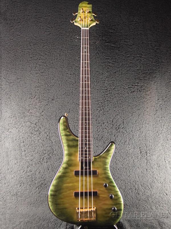 Sugi NB4IR EM/A-MAHO/SGL 新品[スギ,杉本眞][国産/日本製][Green,グリーン,緑][Electric Bass,エレキベース]