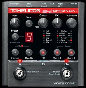 TC HELICON VoiceTone Harmony-G XT 新品 ギターヴォーカル用ハーモナイザー[TCヘリコン,t.c.electronic,TCエレクトロニック][Vocal Effector]