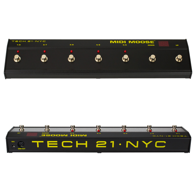 【正規品】TECH21 SansAmp MIDI MOOSE 新品 MIDIスイッチ[テック21][サンズアンプ][ミディムース][MIDIプログラムチェンジペダル][Effector,エフェクター]