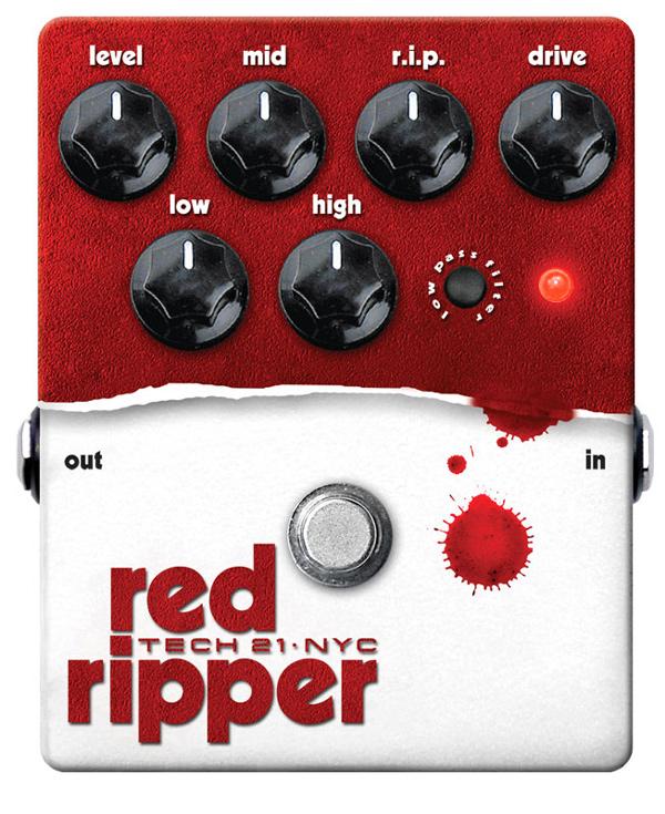 【正規品】TECH21 SansAmp red ripper 新品 ベース用ファズ[サンズアンプ][レッドリッパー][Bass Fuzz][Effector,エフェクター]
