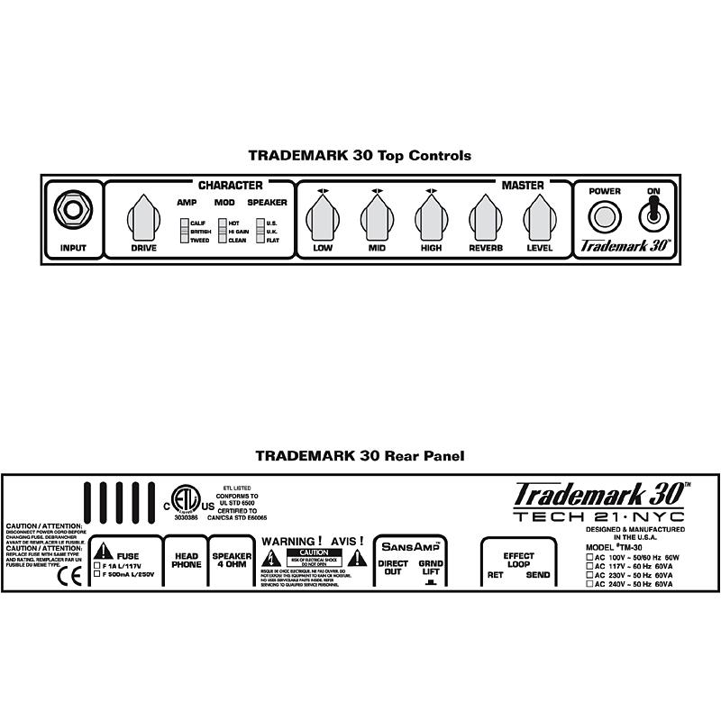 供TECH21 SansAmp TRADEMARK TM30新货吉他使用的小爵士乐队放大器[TEC 21][太阳放大器][商标][Guitar Combo Amplifier]