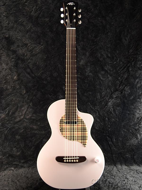VG 《限定1本!!》 EAR-elfin Clear Pink 新品[国産,日本製][ピンク][Mini,ミニギター][Acoustic Guitar,エレアコ,アコギ,アコースティックギター,Folk Guitar,フォークギター]