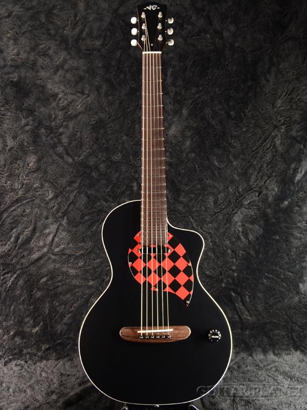 【限定1本!】VG EAR-elfin Black 新品[国産,日本製][ブラック][Mini,ミニギター][Acoustic Guitar,エレアコ,アコギ,アコースティックギター,Folk Guitar,フォークギター]