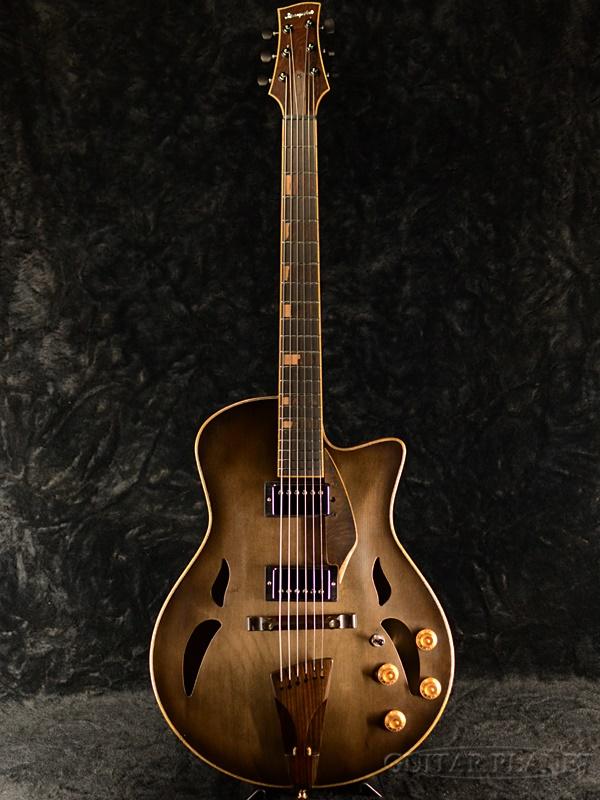 【当店オーダー品】Yamaoka Archtop Guitars StringsArt JG-1/D -Vintage Black- 新品[山岡則正][ブラック,黒][フルアコ][Electric Guitar,エレキギター]