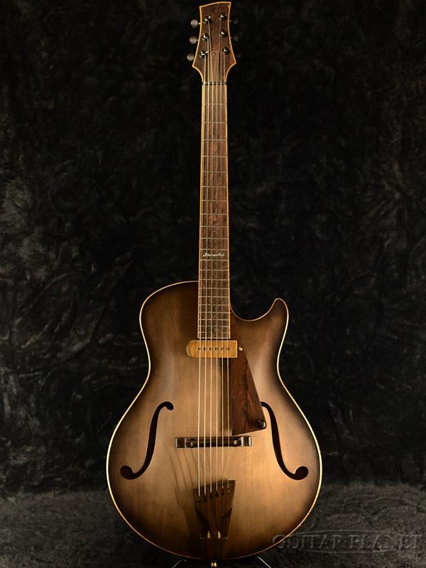 【当店オーダー品】Yamaoka Archtop Guitars StringsArt JG-2 -Vintage Black- 新品[山岡則正][ブラック,黒][フルアコ][Electric Guitar,エレキギター]