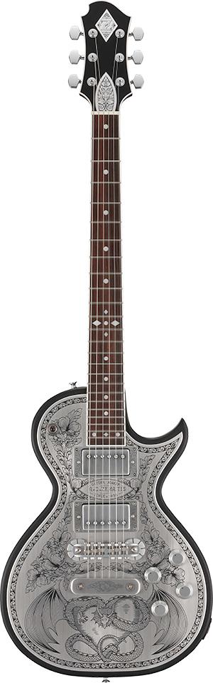 Zemaitis A24MF DRAGON & HEART Black 新品[ゼマティス][国産][メタルフロント][ドラゴン&ハート][ブラック,黒][Les Paul,レスポールタイプ][Electric Guitar,エレキギター]
