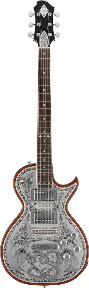 Zemaitis A24MF DRAGON & HEART Natural 新品[ゼマティス][国産][メタルフロント][ドラゴン&ハート][ナチュラル][Les Paul,レスポールタイプ][Electric Guitar,エレキギター]