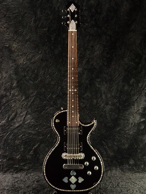 Zemaitis A24SU Black Pearl Heart 新品[ゼマティス][国産][ブラックパールハート,黒][Les Paul,レスポールタイプ][Electric Guitar,エレキギター]