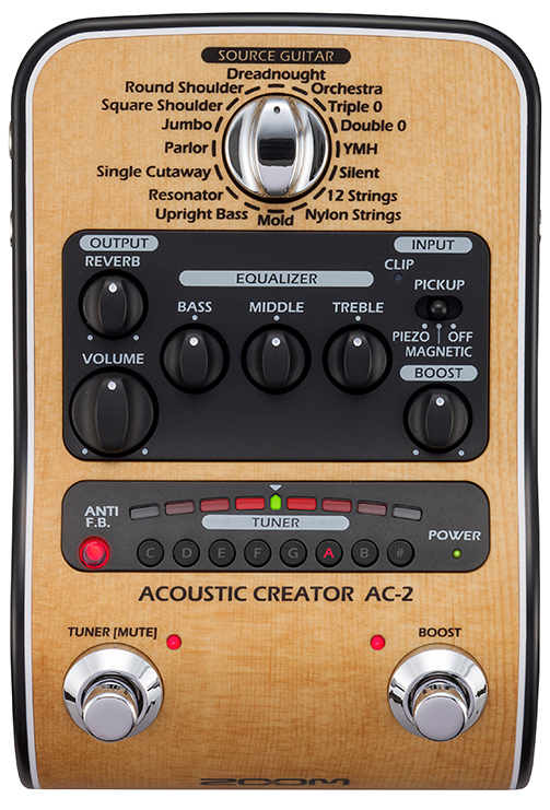 The pre-amp [zoom] for the ZOOM AC-2 Acoustic Creator new article banyan  tree [Pre Amplifier][Effector, effector] [Acoustic Guitar][AC2]