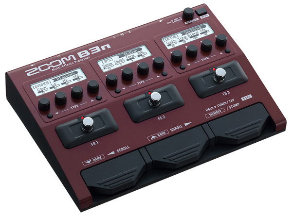 ZOOM B3n Multi-Effects Processor for Bass新货[变焦距镜头][多效应器][Multi Effector][基础用]