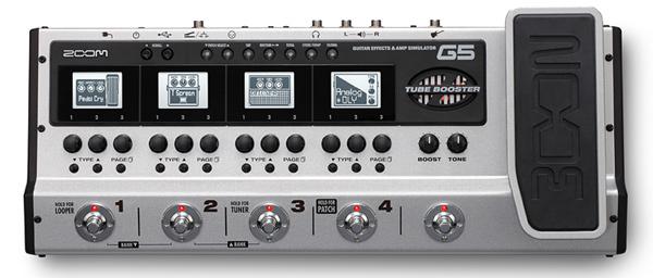 缩放 G5 吉他效果和 Amp 模拟器新多效果 [缩放] 和 [配备真空管] [多效应] [amp 模拟器]