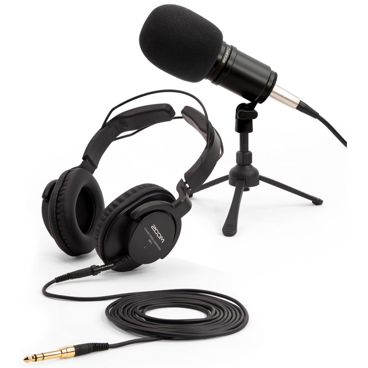 ポッドキャスト用マイクパック[ズーム][Microphone,マイクロフォン][Headphone,ヘッドフォン] 新品 ZDM-1PMP MIC ZOOM PACK - PODCAST