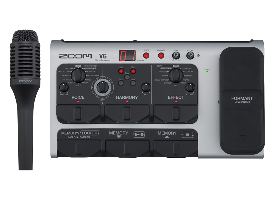[ボーカル用マイク付き]ZOOM V6 新品 ボーカル用エフェクター[ズーム][マルチエフェクター][Mic][Stereo Microphone]