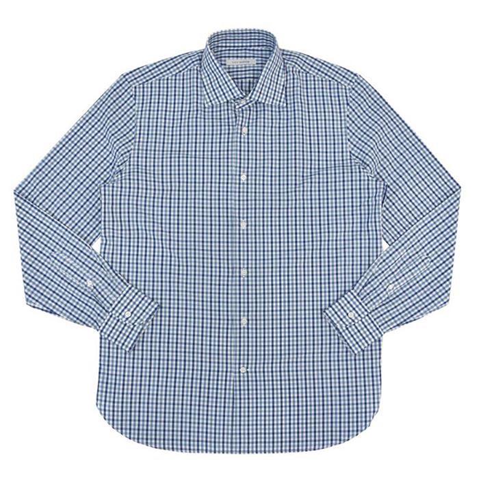 GUY ROVER(ギ ローバー)コットンマルチギンガムチェックワイドカラーシャツ 11142002027