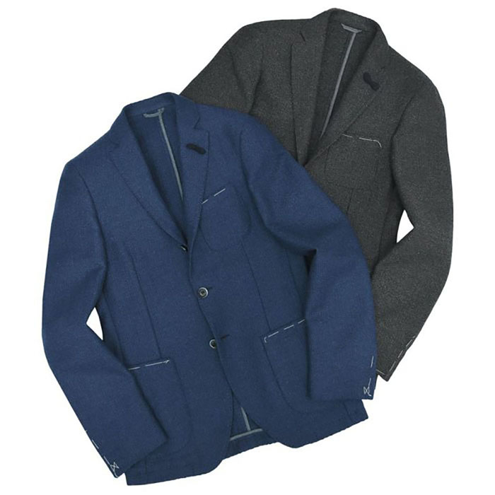 【40%OFF】Altea(アルテア)ウール ライトツイード メランジ ソリッド シングル3Bジャケット