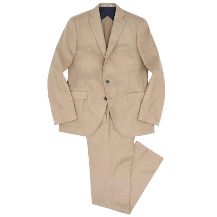 【40%OFF】BOGLIOLI(ボリオリ)HAMPTON ウールナイロン ソリッド ライトフランネル 3Bスーツ