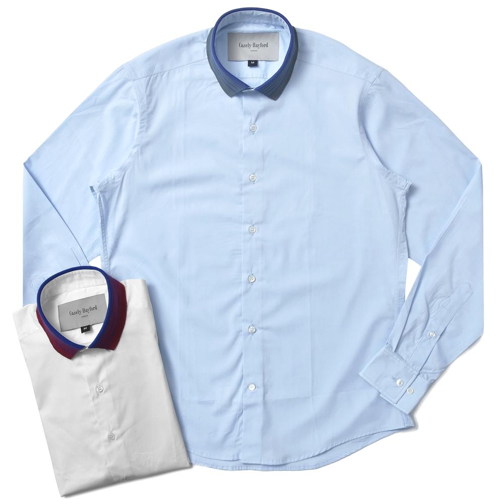 【40%OFF】Casely Hayford(ケースリーヘイフォード)ポロカラー クレリック ソリッドシャツ