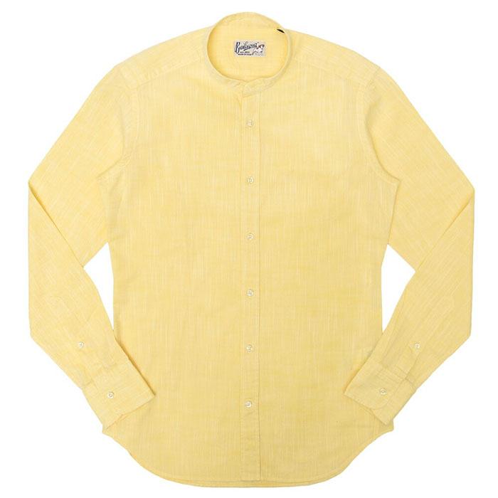 Bevilacqua(べヴィラクア)コットン シャギー スタンドカラー シャツ CHICK