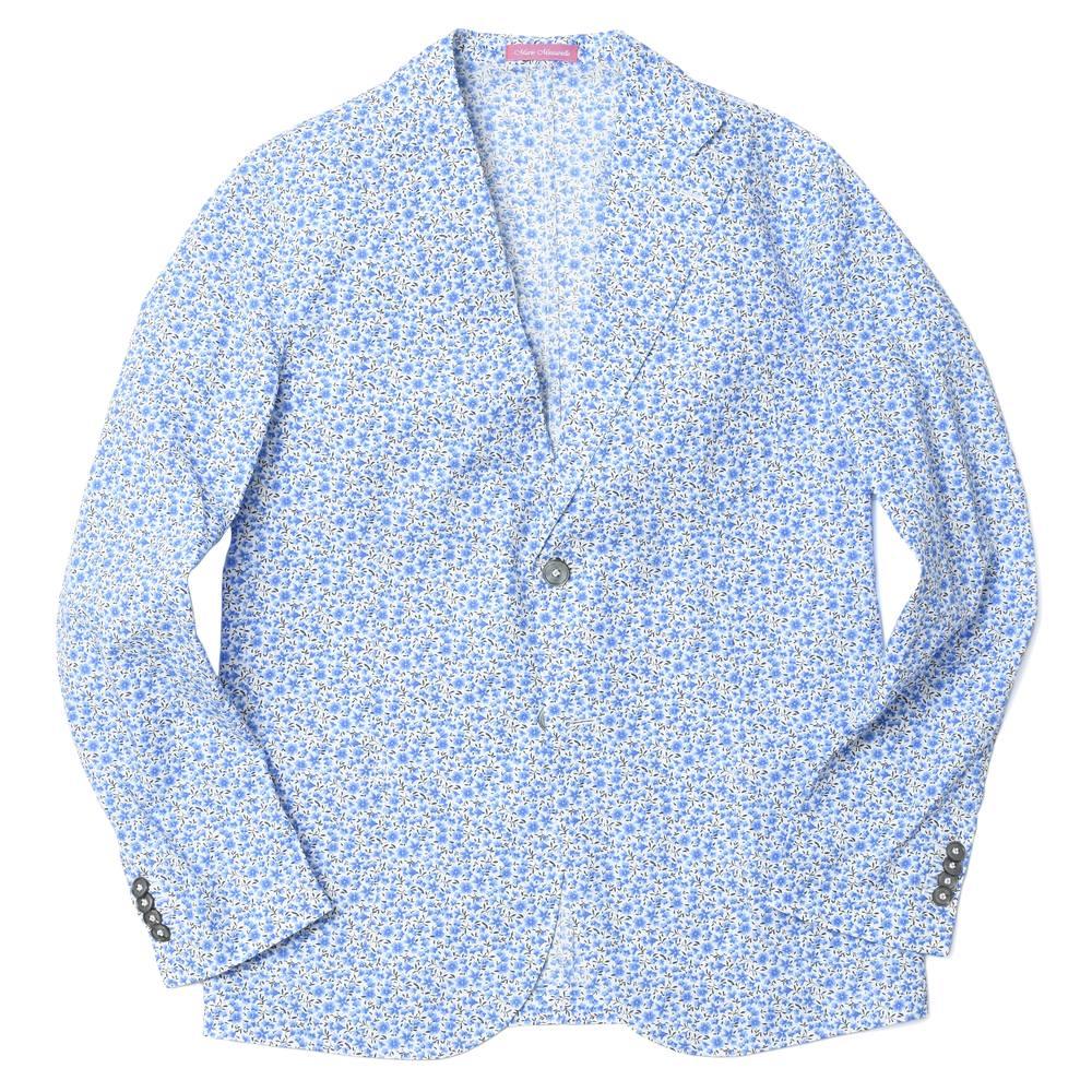 Mario Muscariello(マリオ ムスカリエッロ)コットン フラワープリント 2Bシャツジャケット FLW PRINT 8180-0004 37041002085